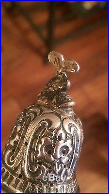 Repousse sterling silver salt and pepper shaker