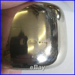 Retro George Jensen Solid Silver Set Salt & Pepper Shakers Henning Koppel 1135