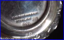 Ritter & Antique Sullivan Baltimore Repusse Sterling Silver Salt Pepper Shakers