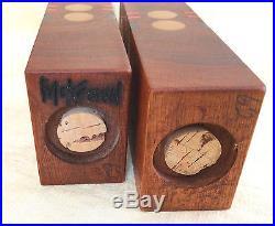 Robert McKeown Mid Century Modern Walnut and Resin Salt & Pepper Shakers