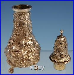 Rose by Stieff Sterling Silver Pepper Shaker #12 1 1/2 x 4 1/2 (#3045) Antique