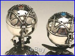 Russian Silver silver Salt & Pepper Shakers, circa 1873