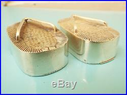 S & P Japanese Sterling Silver Geta Sandals Salt & Peppers Shakers