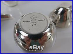 Søren Georg Jensen for Georg Jensen Modernist Sterling Silver Condiment Set 965