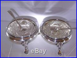 Silver Hallmarked Sheffield 1913 Boxed Dishes & Spoons