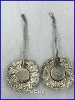Salt and Pepper Shakers. Japanese Sterling Silver. Flower Form. Early 20th C