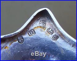 Set 4 Antique Georgian Sterling silver Hester Bateman salt cellars, 325grams, 1787