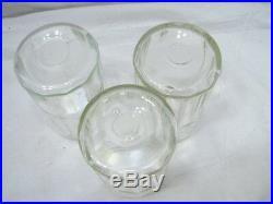 Set 5 Vintage Glass Hoosier Type Jars Shaker Panel Coffee Tea Salt/Pepper Spice
