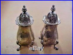 Set of 2 Tiffany & Co. Sterling Silver Salt & Pepper Shakers MADE IN ENGLAND