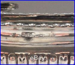 Set of 2 Vintage 925 Solid Sterling Silver Sugar Salt Cellar Bowl Small Antique