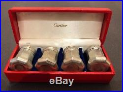 Set of Four Cartier Salt and Pepper Shakers in Original Box