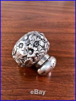 Shiebler Co. Sterling Silver Repousse Salt & Pepper Shaker Pattern #2446