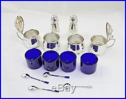 Silver 6 PIece And Four Spoons Large Cruet Cased 1936