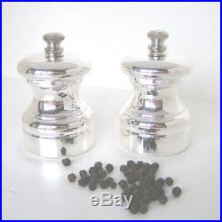 Silver Pepper & Salt Grinders. A Pair Of Hallmarked Silver Pepper & Salt Mills