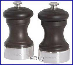 Silver Peugeot Pepper & Salt Grinders. Hallmarked Silver Pepper & Salt MILL Pair