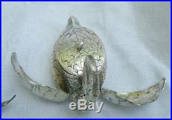 Silver Swan Open Salt Pepper Shaker Germany Vintage Moving Wings