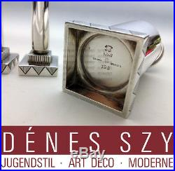 Skyscraper GEORG JENSEN DENMARK STERLING MODERNIST CRUET SET # 793 JJ 3 pieces