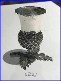 Solid Silver Antique Novelty Thistle Salt Or Pepper Pot