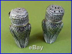Solid Silver Owl Cruet Owls Salt & Pepper Shakers Cruet Set priced to fly