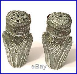 Solid Silver Owl Salt & Pepper Shakers Novelty Cruet Set