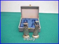 Sterling 950 Japanese/Chinese man woman salt pepper shaker Vintage Box