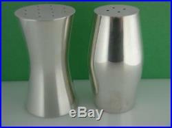Sterling GEORG JENSEN Salt & Pepper Shakers HANS HENRIKSEN Denmark Modern Design