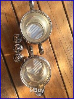 Sterling Gorham Creamer, STERLING Salt & Pepper Shakers, 1132,1133