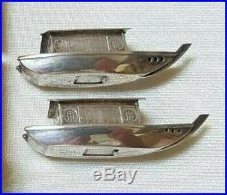 Sterling Silver 950 Japanese Sampan Ship Boat Salt & Pepper Shakers Original Box