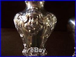 Sterling Silver Art Nouveau Style Salt & Pepper Shakers by Arrowsmith