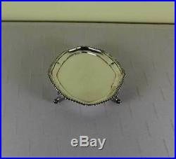 Sterling Silver Condiment Set & Sterling Tray