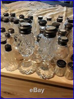 Sterling Silver Glass Salt and Pepper Shaker Lot