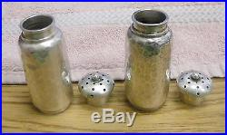 Sterling Silver Hammered Salt & Pepper Shakers Dominick & Haff A. B. C from C. B. C