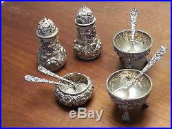 Stieff Rose Sterling Salt and Pepper Shakers