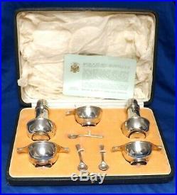Stunning Antique Silver Scottish Cruet Set Hallmarked Edinburgh 1921-22