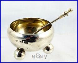 Stunning Cased Victorian Sterling Silver Salt And Mustard Set London 1877