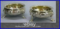 Stunning Solid Silver Open Salt 1859 Robert Harper Great Condition