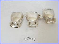 Stylish Art Deco Solid Silver Cruet Set London 1936 Goldsmiths & Silversmiths