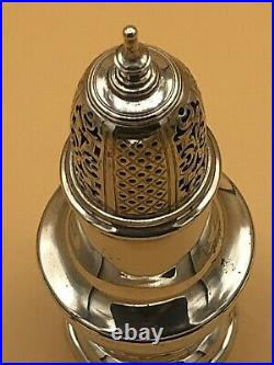 Superb George II Solid Silver Sugar Caster / Shaker London 1733 By Samuel Wood