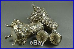 Theodore B Starr Vintage Sterling Silver Victorian Salt Pepper Shakers