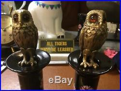 Tiffany & Co Sterling Gilt Silver Owl Salt Pepper Shakers Bois Dore Newport Ri