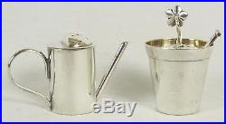 Tiffany & Co Sterling Silver Salt and Pepper Shakers Made in Italy