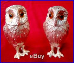 Tiffany & Company Sterling Silver Owl Salt & Pepper Shakers
