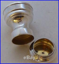 Tiffany Solid Italian 925 Silver Cruet Set Salt and Pepper Shaker Grinders Mills