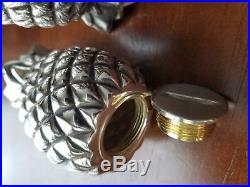 Tiffany & co sterling silver salt and pepper shakers pineapple design