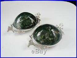 Unusual Silver Salts with Stag Heads, Edinburgh 2007