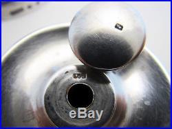 VICTORIAN 1889 ANTIQUE Sterling Silver Salt/Pepper English Shaker Grinder/Mill