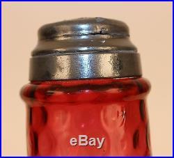 Victorian Amberina Inverted Thumbprint Sugar Shaker