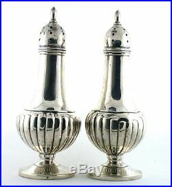 VINTAGE Fisher 417 Solid Pure. 925 Sterling Silver Salt Pepper Shakers AS102