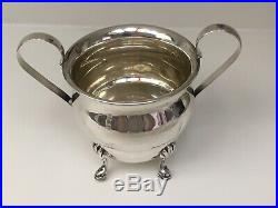 VINTAGE STERLING SILVER TEA & SUGAR BOWL SET & TWO SALT And PEPPER SHAKERS