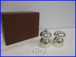 VINTAGE STERLING SILVER in GEORG JENSEN BOX SALT & PEPPER MILL GRINDER MIB
